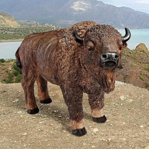 "American Buffalo Statue 28""W"
