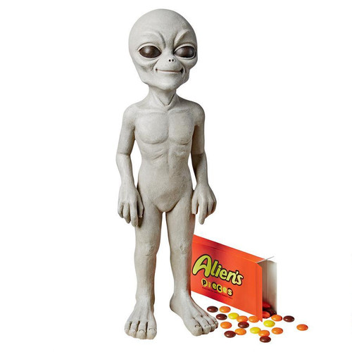 """The Out of This World Alien Extra Terrestrial Statue - Medium 24""""H"""