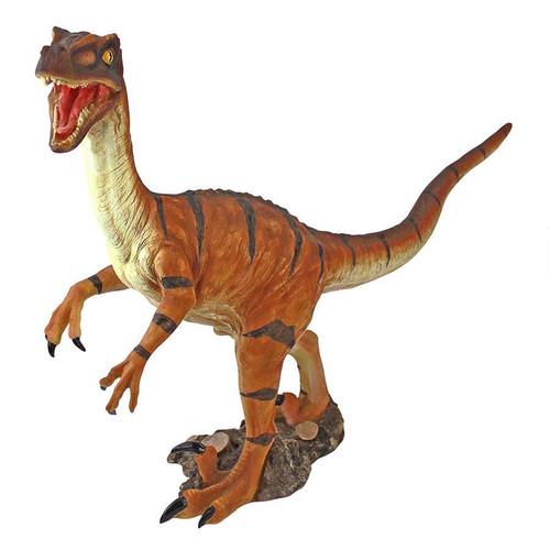 "Velociraptor Scaled Dinosaur Statue 16""H"