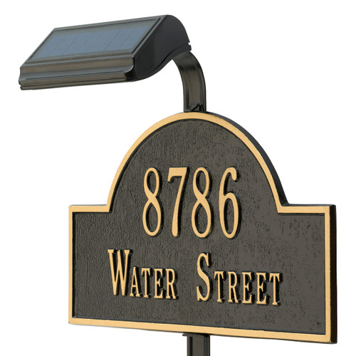 Illuminator Solar Address LAMP - Lawn (Black)