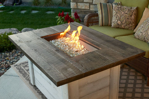 Alcott Rectangular Gas Fire Pit Table