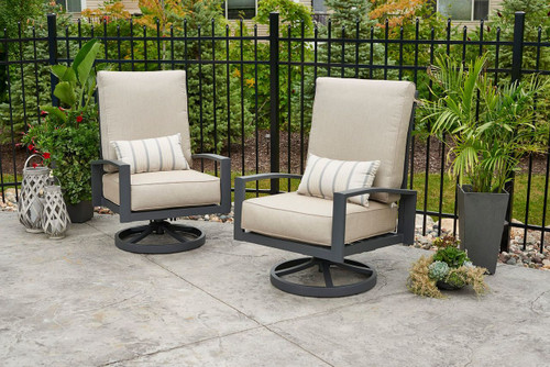 Shown in Cast Ash Color with Optional Lumbar Pillows