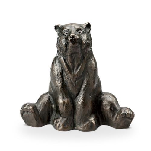 """Stretching Yoga Bear Aluminum Garden Sculpture 12""""H"""