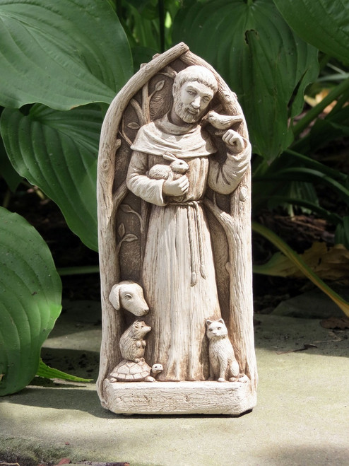 """St. Francis Blesses the Animals Statue 9""""H"""