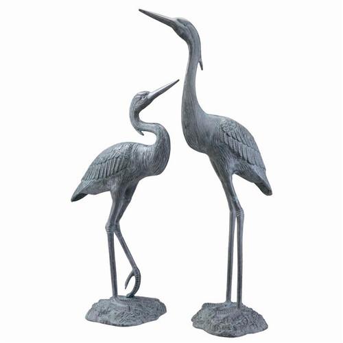 "Heron Pair Garden Sculpture 37""H"