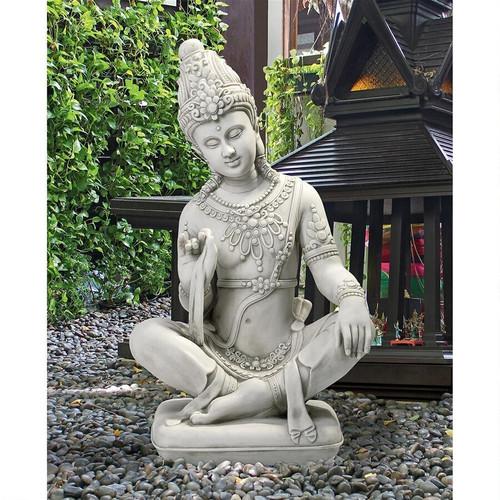 "Sitting Thai Teppanom Beautiful Being Statue 22""H"