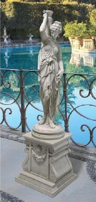 "Dione, the Divine Water Goddess Garden Statues 40""H"