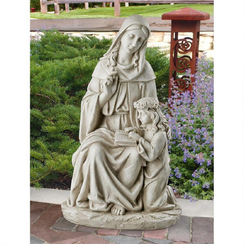 """St. Anne with the Young Mary, Mother of Jesus Statue 24""""H"""