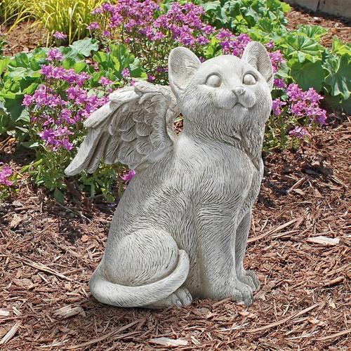"Loving Friend, Memorial Pet Cat Statue 10""H"