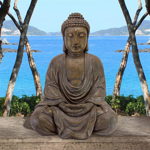 "Meditative Buddha of the Grand Temple Garden Statue 40""H"
