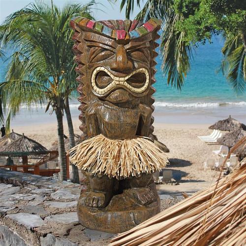 "Pau Hana Hawaiian Tiki Totem Statue 20""H"