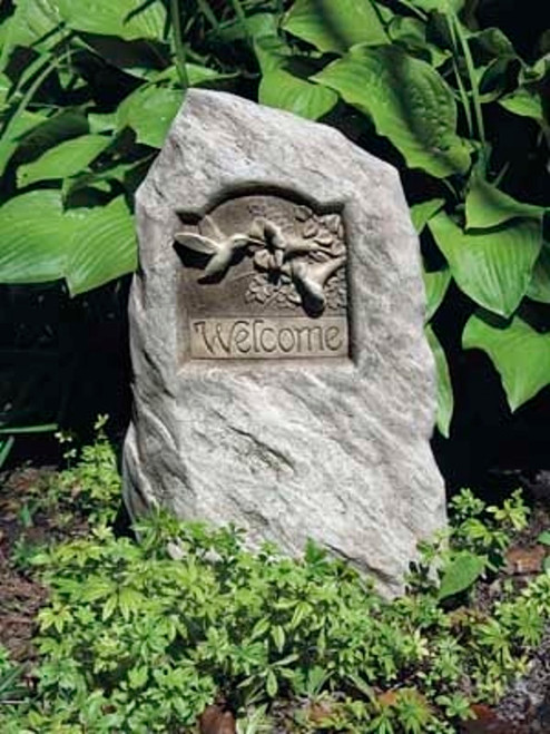 "Hummingbird Welcome Stone 18.5""H"