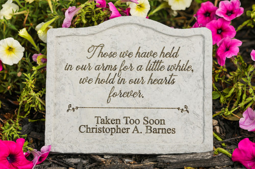 """Those we have held..."" Personalized Memorial Stone 8"" x 6.75"""