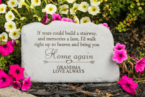 """If tears could build a stairway..."" Personalized Memorial Stone 11"" x 7"""