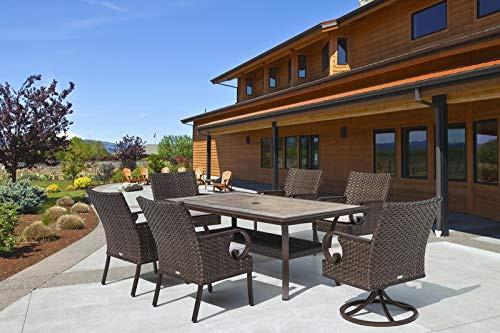 Patio Time Brooks 7-Piece Wicker Outdoor Dining Set