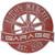 """Racing Wheel Garage Plaque 12""""Diameter (2 Lines)"""