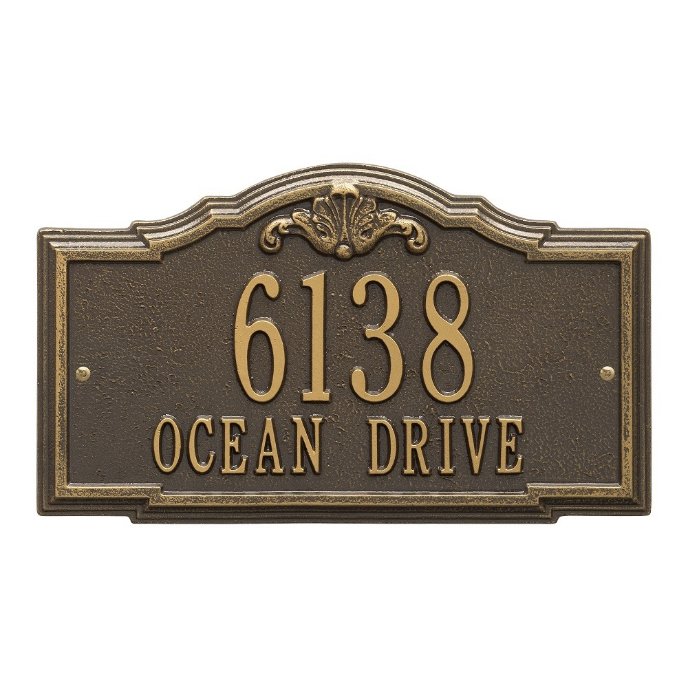 Two Lines Wall Address Plaques