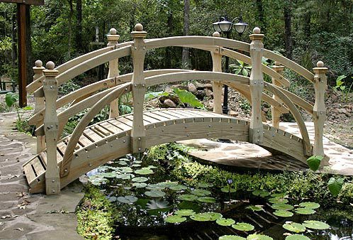 High-Rise Double Rail Garden Bridges (6' to 20')