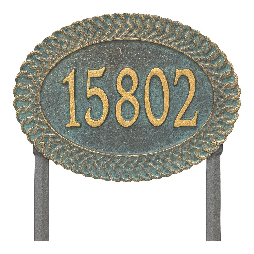 One Line Lawn Address Plaques