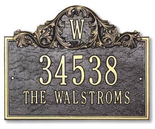 Wall Mounted Address Plaques