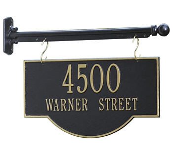 Hanging Address Plaques and Posts
