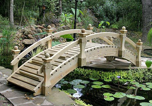 High-Rise Low Rail Garden Bridges (6' to 20')