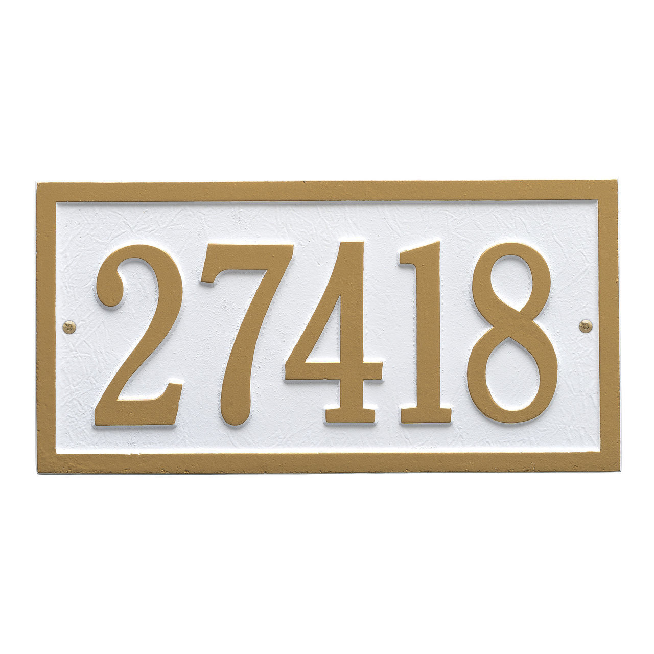 One Line Wall Address Plaques