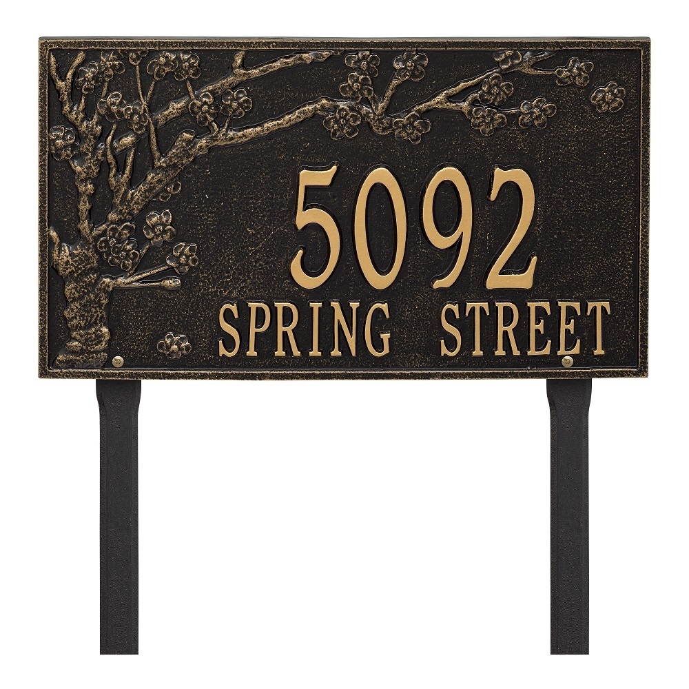 Two Lines Lawn Address Plaques