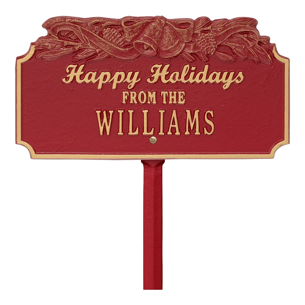 Holiday Lawn Plaques