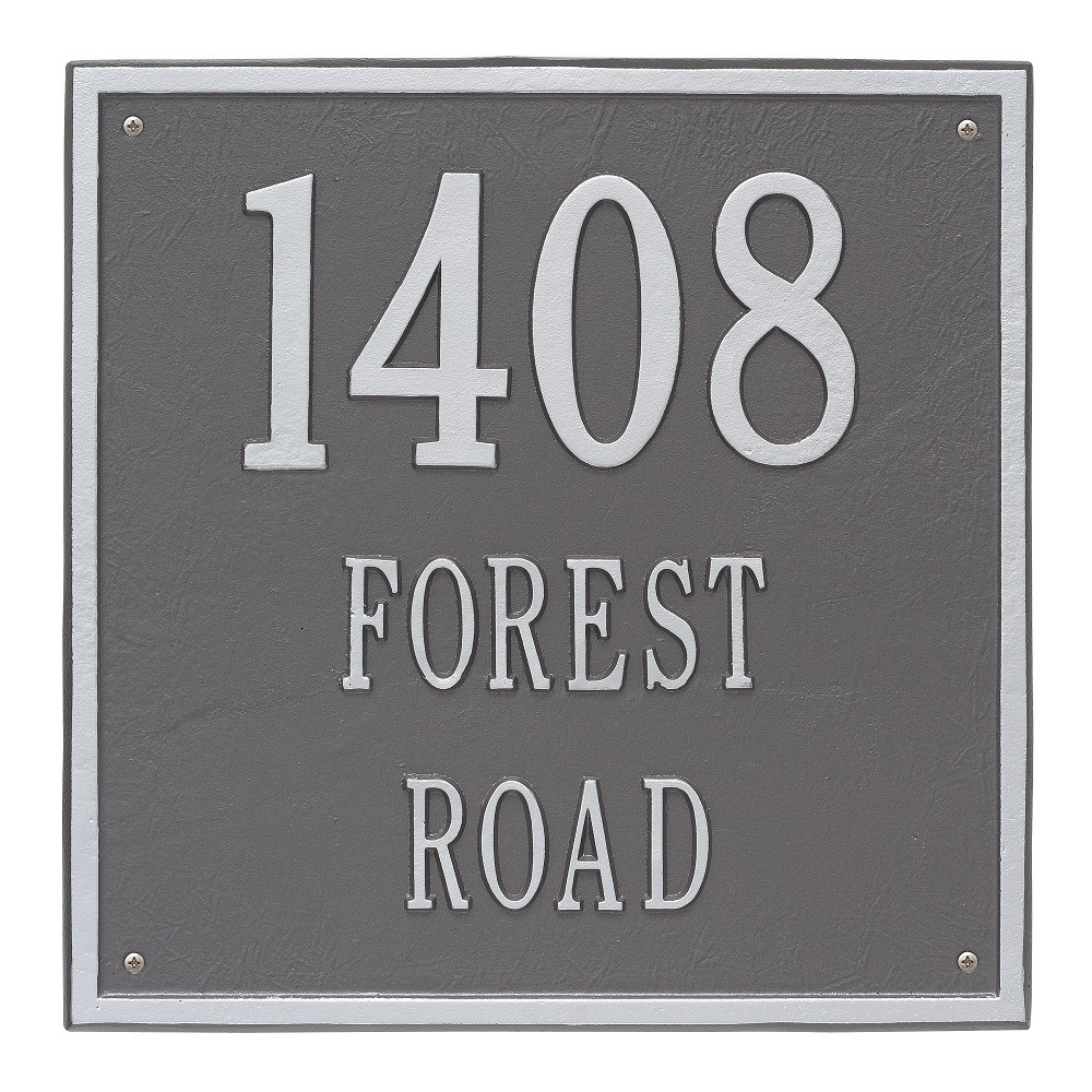 Three Lines Wall Address Plaques