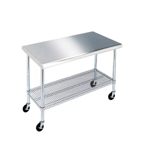 """MM  Work Table with 49"""" Stainless Steel Top"""