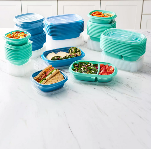 Rubbermaid 100-Piece Meal Prep Food Storage Containers Set - Teal