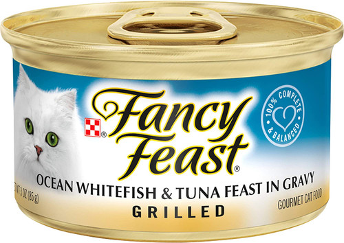 Purina Fancy Feast Grilled Gravy Wet Cat Food, Ocean Whitefish & Tuna Feast - (24) 3 oz. Cans