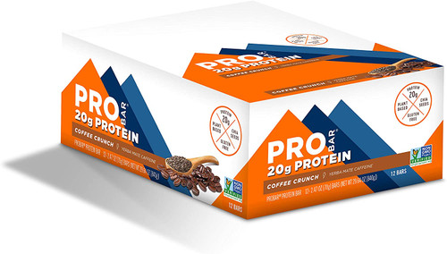 PROBAR - Base Protein Bar, Coffee Crunch, Non-GMO, Gluten-Free, Healthy, Plant-Based Whole Food Ingredients, Natural Energy (12 Count)