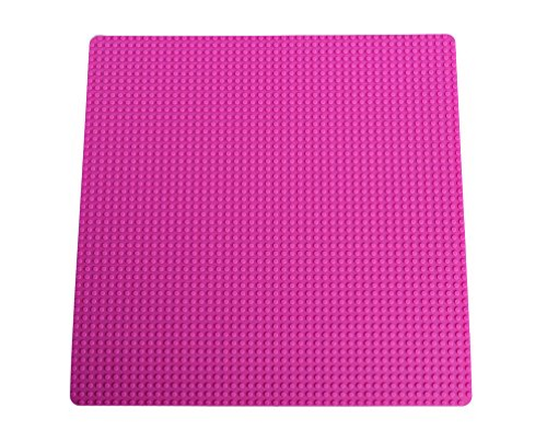 """Strictly Briks Classic Pink Roll Up Building Mat 15"""" x 15"""" Double Sided Silicone Travel Mat 