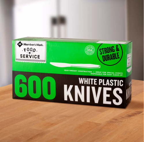 MM Plastic Knives, Heavyweight, White (600 ct.)
