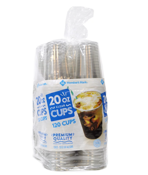 MM Clear Plastic Cups, 20 oz. (120 ct.)