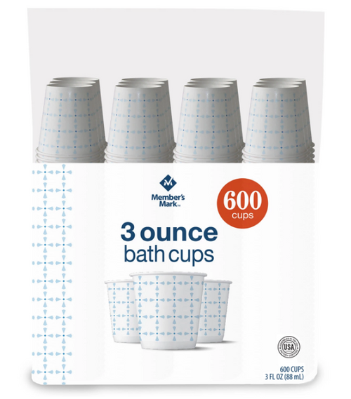 MM Printed Paper Bath Cold Cup (3 oz., 600 ct.)