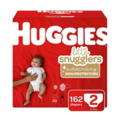 Huggies Little Snugglers Diapers - Size 2 162 CT