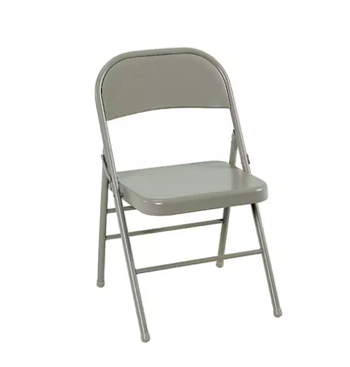 Cosco All Steel Folding Chair - Antique Linen - 4-pack