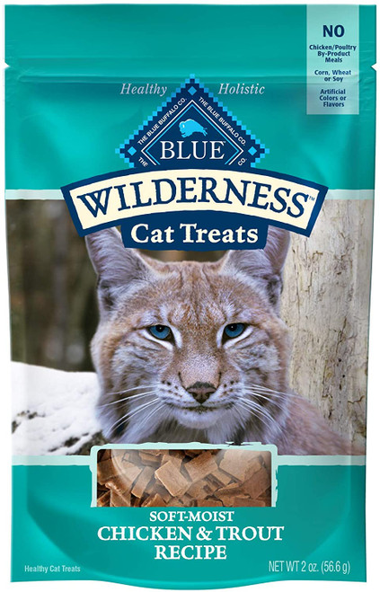 Blue Wilderness Chicken and Trout Cat Treats - 2 oz.
