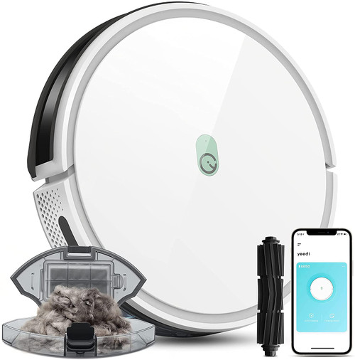 yeedi k650 Robot Vacuum, 2000Pa Wi-Fi Robotic Vacuum Cleaner with XXL Big Dustbin and Tangle-Free Brush, Perfect for Pet Hair, Carpets, Hard Floor, Self-Charging, Compatible with Boundary Strips