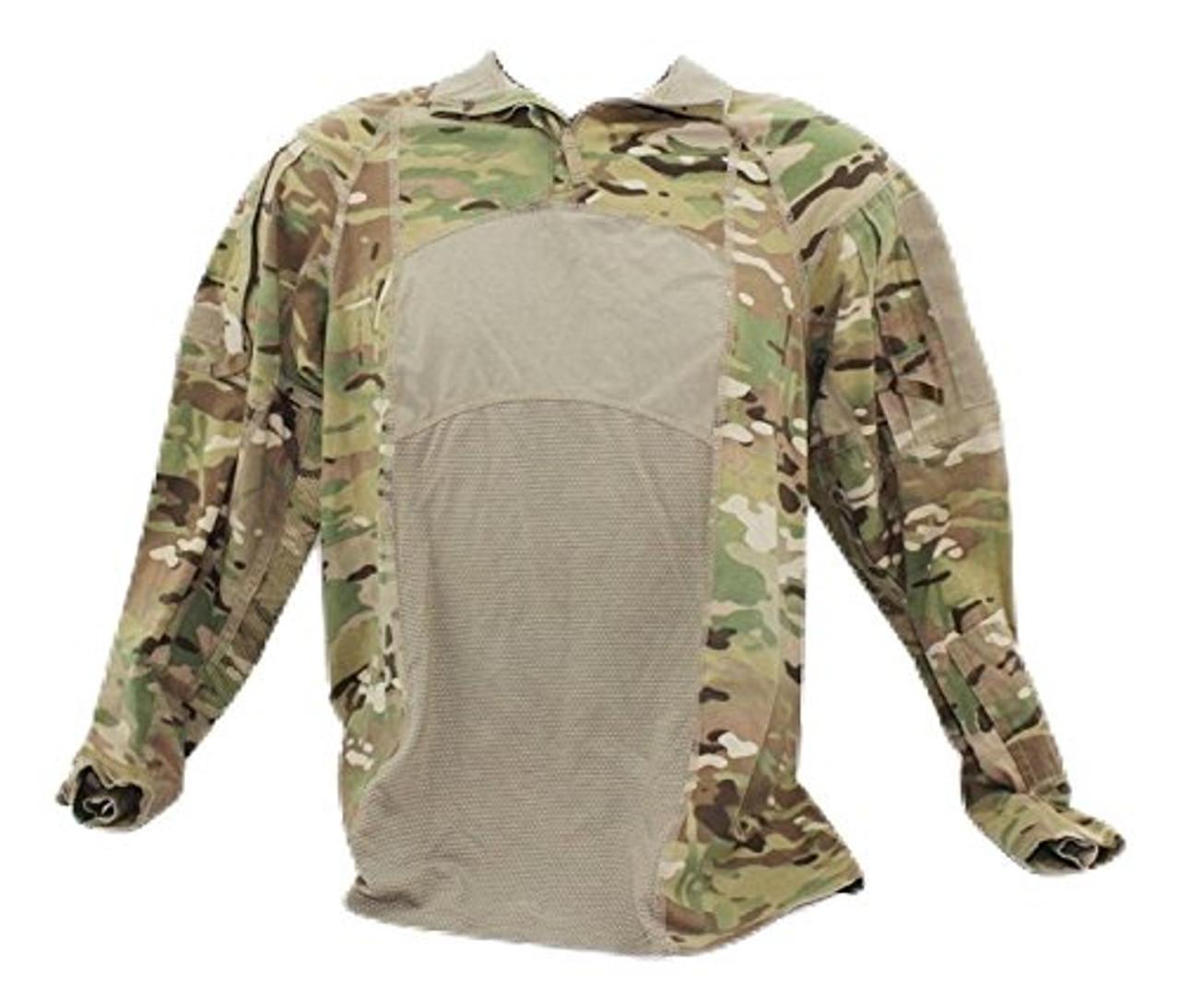 ARMY OCP MULTICAM ADVANCED COMBAT SHIRT TYPE II 1/4 ZIPPER