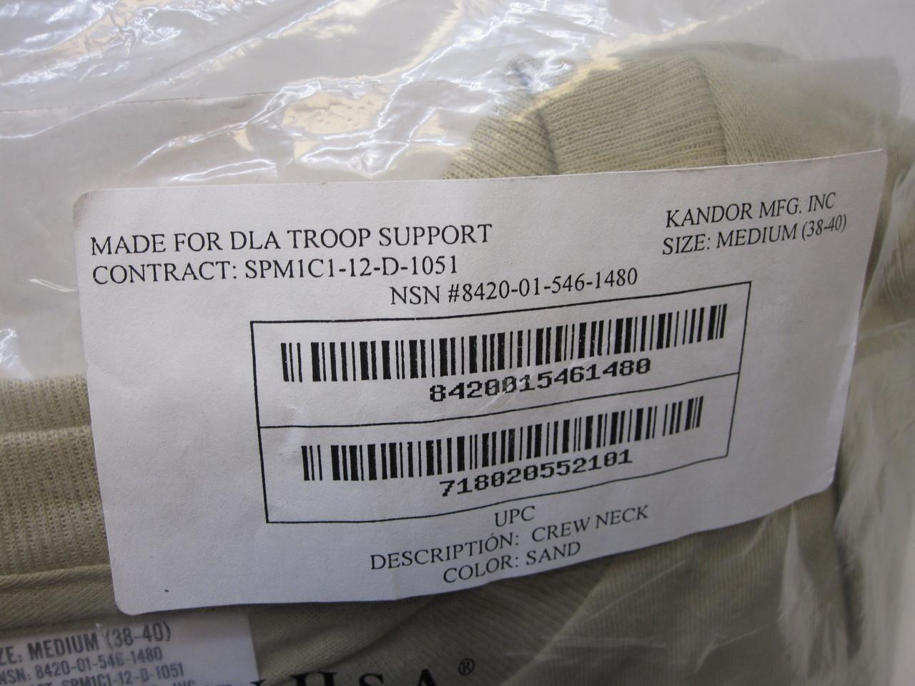 (3) PACK USGI ARMY ISSUE DESERT TAN SAND ACU UNIFORM T-SHIRTS UNDERSHIRT MEDIUM