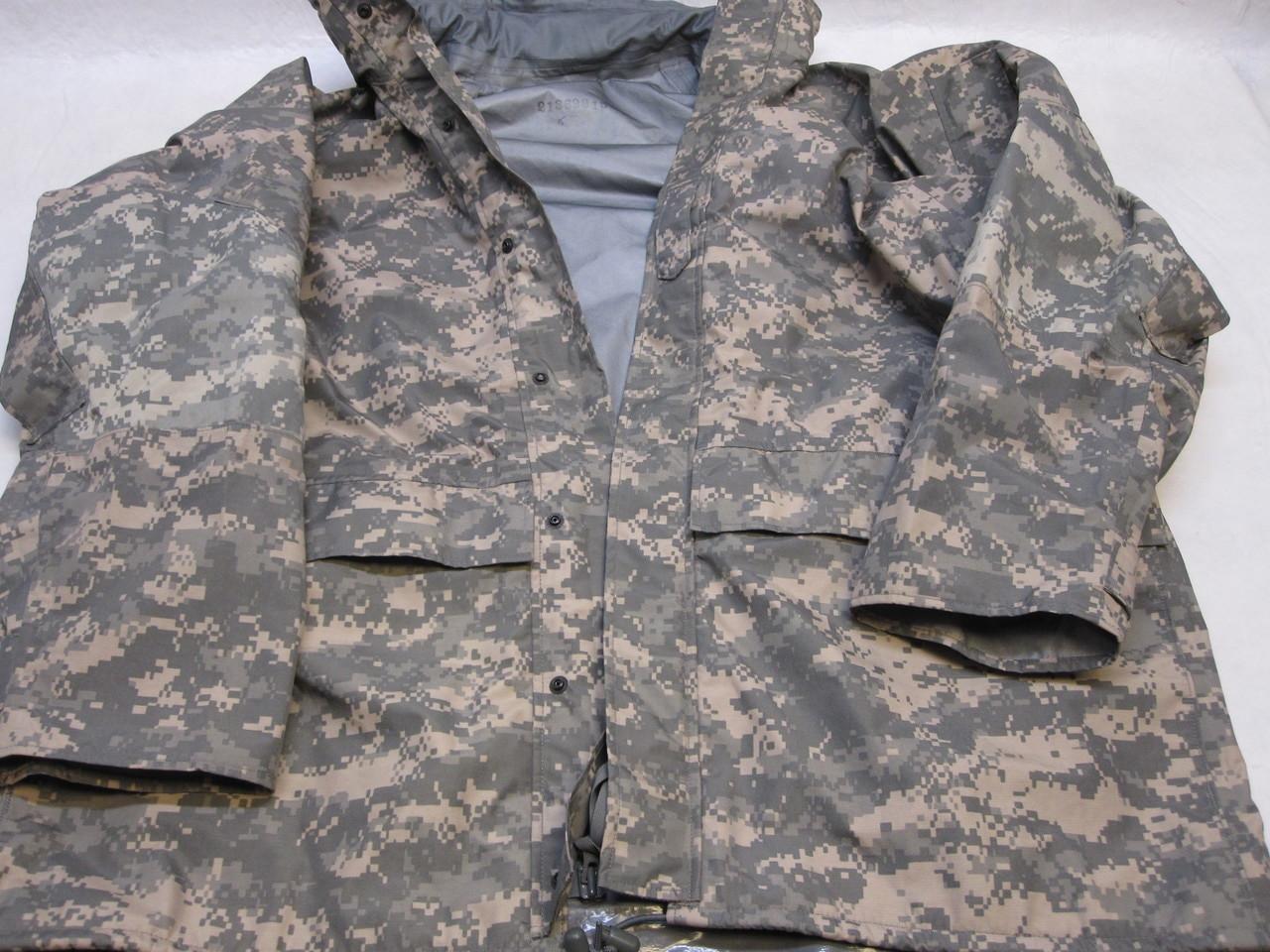 Army Gore-Tex Large Long Parka//Coat//Jacket Digital Camo ACU Waterproof USGI