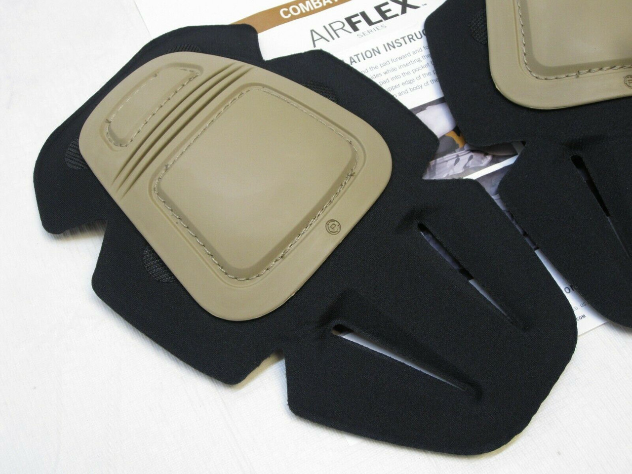 NEW CRYE PRECISION AIRFLEX COMBAT KNEE PAD INSERTS KHAKI/ TAN REMOVABLE PADS