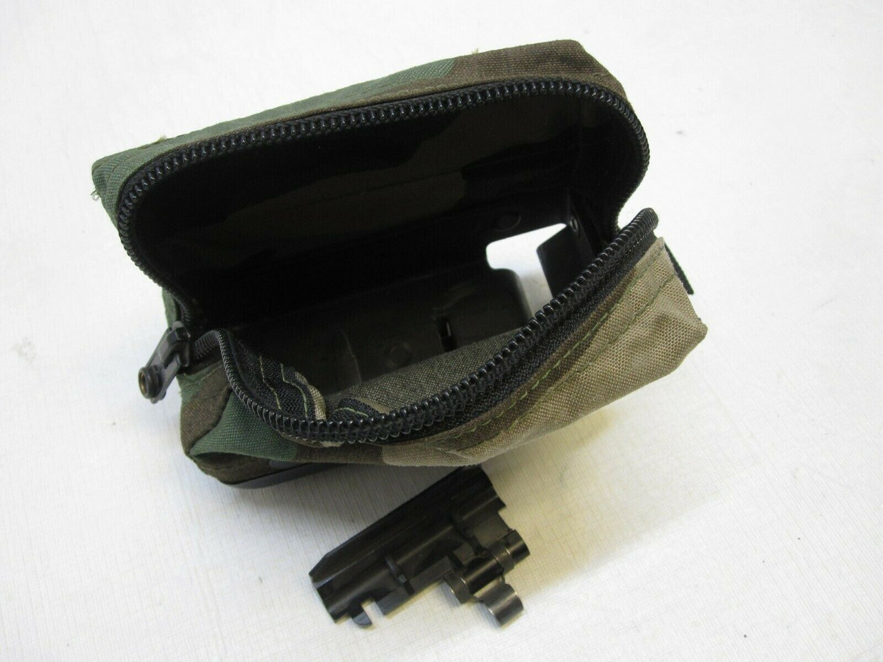 WOODLAND BDU M249 AMMO POUCH 100 ROUND SOFT PACK NUT SACK SAW START TAB 5.56