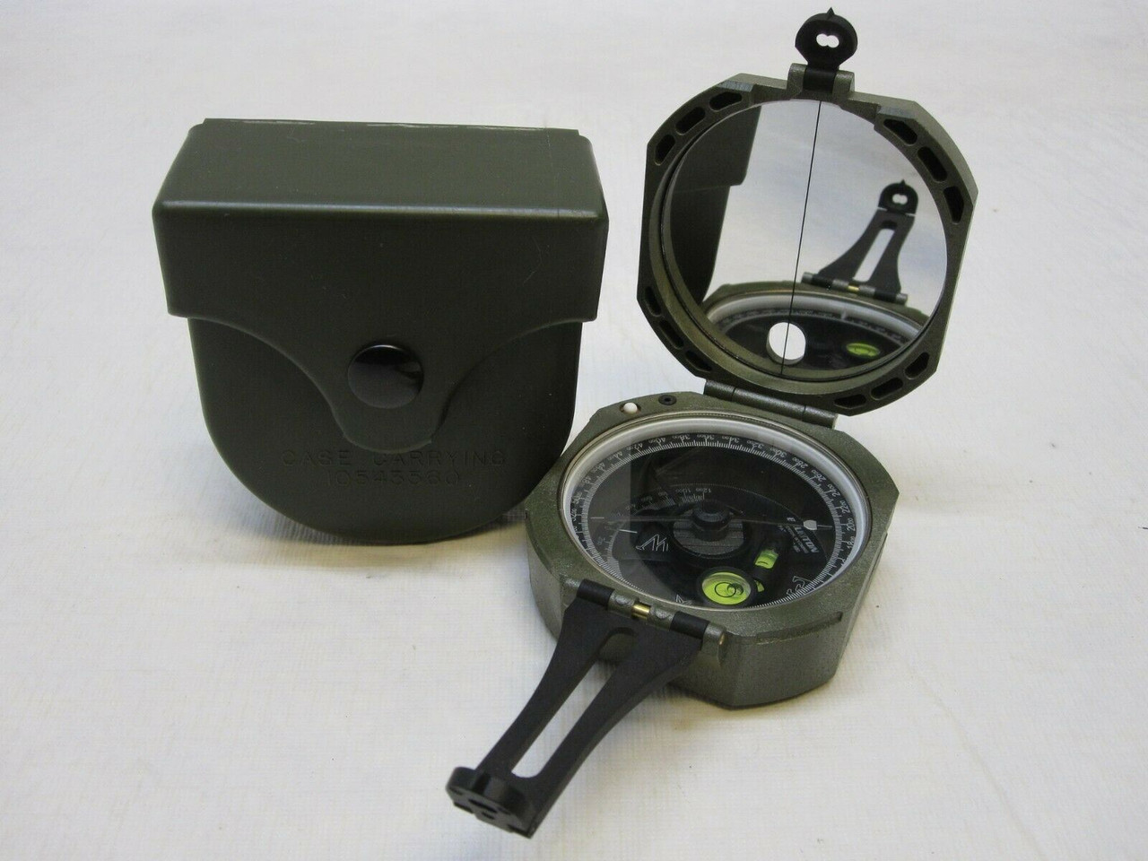 GENUINE MILITARY M2 BRUNTON POCKET TRANSIT COMPASS ARTILLERY 1290-00-930-4260