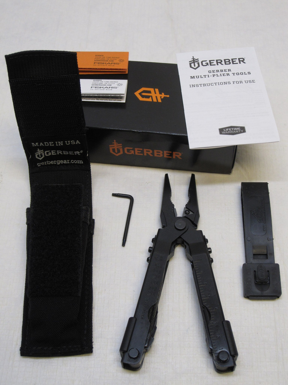 NEW MILITARY GERBER MP600 NEEDLE NOSE PLIERS MULTI-TOOL BLACK OXIDE FINISH POUCH