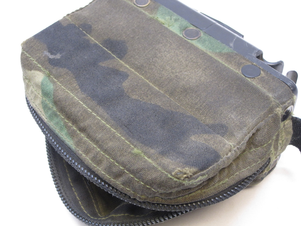 USED WOODLAND BDU M249 AMMO POUCH 100 ROUND SOFT PACK NUT SACK SAW 5.56